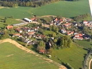 Letecký snímek - Kladruby