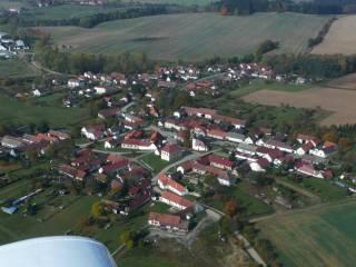 Letecký snímek - Pořín