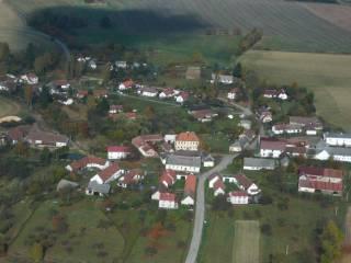 Letecký snímek - Prasetín