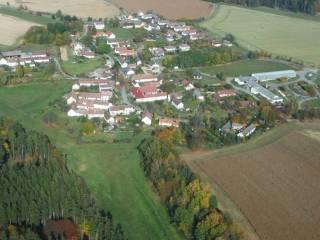 Letecký snímek - Mašovice