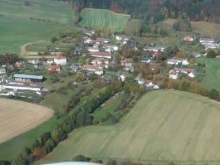 Letecký snímek - Chotčiny